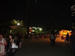 終演後の大阪城ホール前