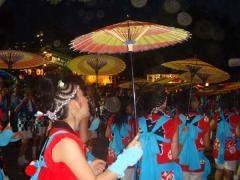 """三社まつり本祭""""傘踊り""""宮入"""